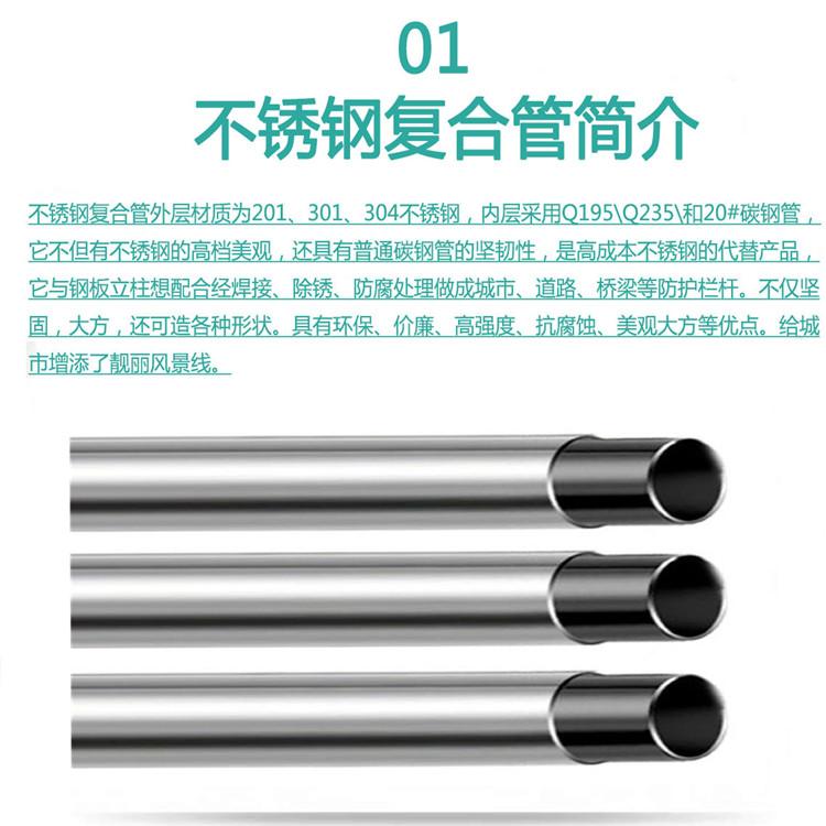 浙江省不锈钢复合管厂家直销