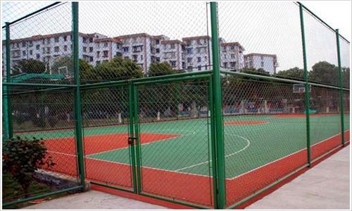 宁陵园林公司铺设塑胶网球场场地维修