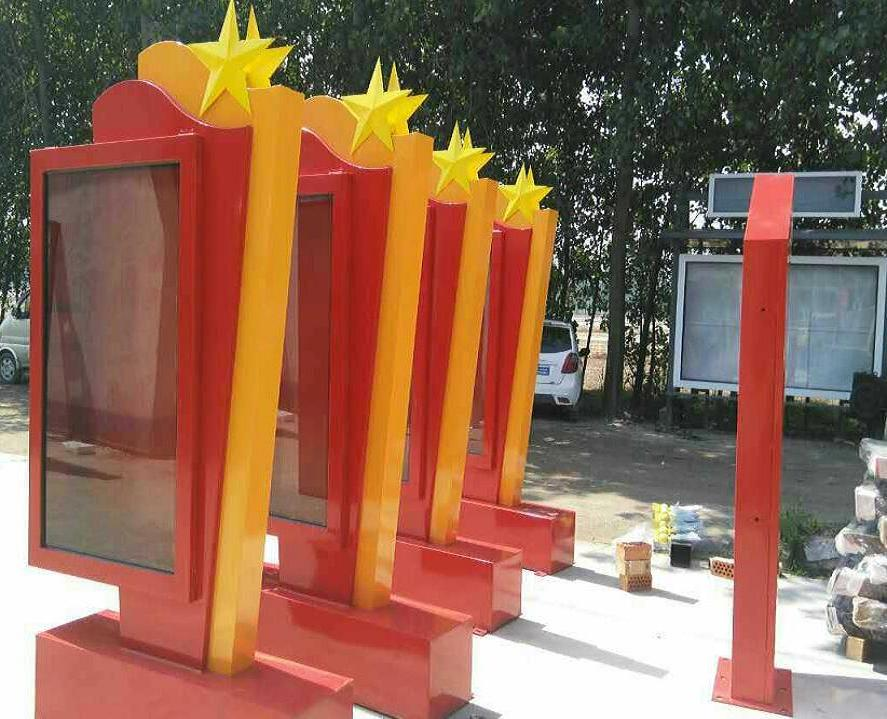 北京步行街滚动灯箱立式滚动灯箱候车亭厂家质保三年终生维护