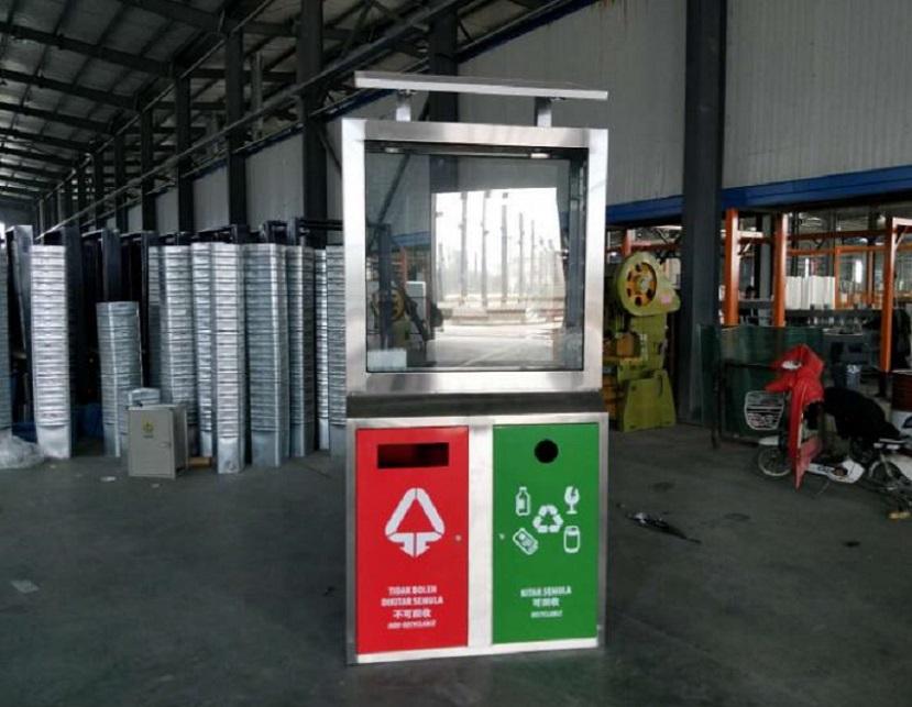 北京组合式广告垃圾箱滚动灯箱