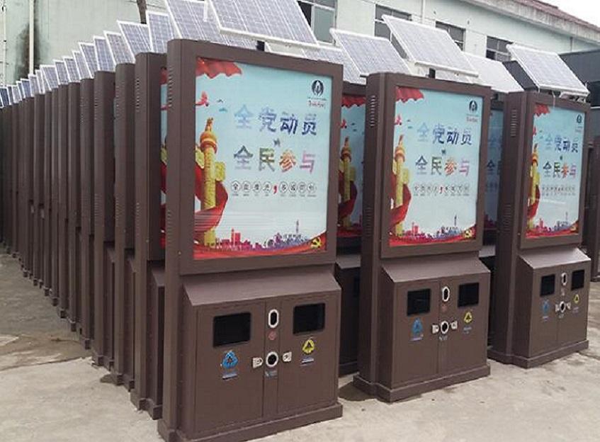广州仿古广告垃圾箱工艺