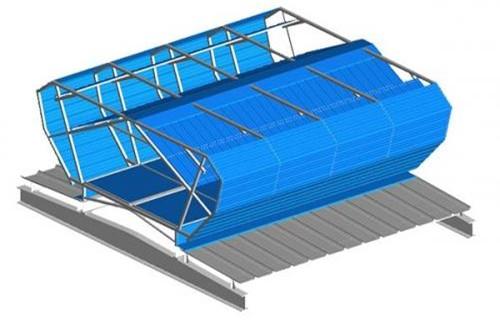本溪弧形通风天窗  定做安装各种通风天窗