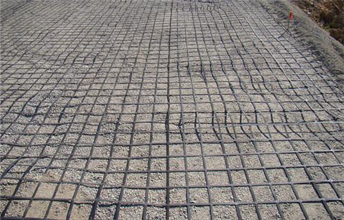 蚌埠土工格栅150kn道路施工