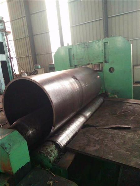 宁夏Q235钢板丁字焊厚壁卷圆厂Q235钢板公路排水卷管厂质量保障